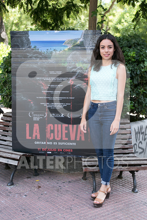 "Marta Castellote at the photocall of the presentation of the horror movie ""La Cueva"" (The Cave) in Madrid. Spain. Jul 08, 2014. (ALTERPHOTOS/Carlos Dafonte)"