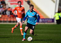 Fleetwood Town's Conor McAleny in action<br /> <br /> Photographer Richard Martin-Roberts/CameraSport<br /> <br /> The EFL Sky Bet League One - Blackpool v Fleetwood Town - Saturday 14th April 2018 - Bloomfield Road - Blackpool<br /> <br /> World Copyright &not;&copy; 2018 CameraSport. All rights reserved. 43 Linden Ave. Countesthorpe. Leicester. England. LE8 5PG - Tel: +44 (0) 116 277 4147 - admin@camerasport.com - www.camerasport.com