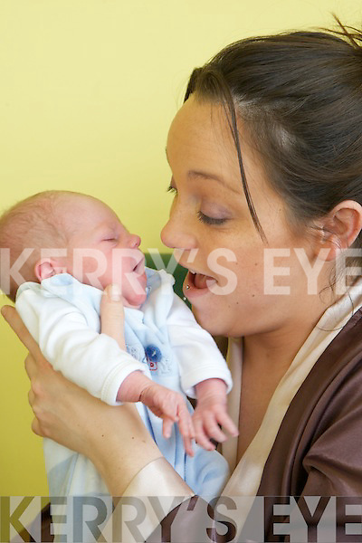 Megan Daly from Killarney with her son who was born on New years day at Kerry General Hospital.