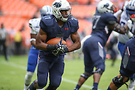 Washington, DC - September 16, 2016: Howard Bison running back Anthony Philyaw (7) runs the ball during game between Hampton and Howard at  RFK Stadium in Washington, DC. September 16, 2016.  (Photo by Elliott Brown/Media Images International)