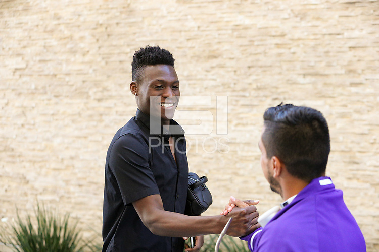 San Jose, CA - Wednesday May 17, 2017: Fatai Alashe prior to a Major League Soccer (MLS) match between the San Jose Earthquakes and Orlando City SC at Avaya Stadium.