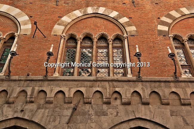Windows in Genoa, Italy