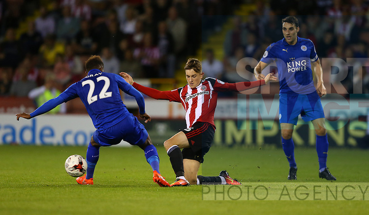 David Brooks of Sheffield Utd during the Checkatrade Trophy match at Bramall Lane Stadium, Sheffield. Picture date: August 30th, 2016. Pic Simon Bellis/Sportimage