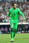 Keylor Navas of Real Madrid during the match of La Liga between Real Madrid and Futbol Club Barcelona at Santiago Bernabeu Stadium  in Madrid, Spain. April 23, 2017. (ALTERPHOTOS)