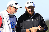 Shane Lowry (IRL) and caddy Dermot Byrne at 7th green during Sunday's Final Round of the 2018 AT&amp;T Pebble Beach Pro-Am, held on Pebble Beach Golf Course, Monterey,  California, USA. 11th February 2018.<br /> Picture: Eoin Clarke | Golffile<br /> <br /> <br /> All photos usage must carry mandatory copyright credit (&copy; Golffile | Eoin Clarke)