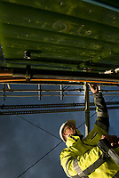 GERMANY, Hamburg Reitbrook, Eon Hansewerk, research project for algae cultivation to generate energy, Biogas and biomass / DEUTSCHLAND, Hamburg Reitbrook, Eon Hansewerk, Projekt Energiegewinnung aus Mikroalgen, Kultivierung von Mikroalgen zur Erzeugung von Biogas und Biomasse