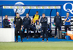 Queen of the South v St Johnstone&hellip;18.08.18&hellip;  Palmerston    BetFred Cup<br />Tommy Wright watches from the dugout<br />Picture by Graeme Hart. <br />Copyright Perthshire Picture Agency<br />Tel: 01738 623350  Mobile: 07990 594431