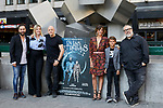 Producers Kiko Martinez, Carolina Bang, director Zoe Berriatua, actress Macarena Gomez, actor Jorge Andreu and producer Alex de la Iglesia attends to 'En Las Estrellas' photocall at Plaza de los Cubos in Madrid, Spain. August 30, 2018. (ALTERPHOTOS/A. Perez Meca)