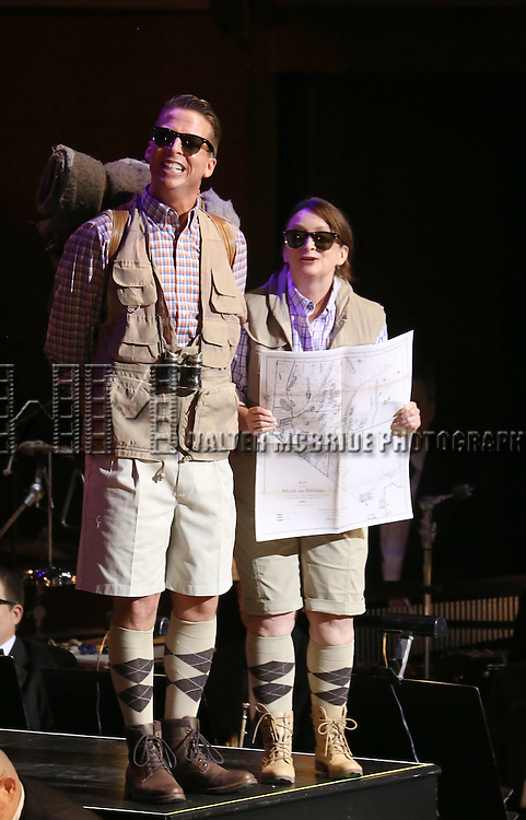 """Jack McBrayer and Rachel Dratch during the Manhattan Concert Productions 25th Anniversary concert performance of """"Crazy for You"""" at David Geffen Hall, Lincoln Center on February 19, 2017 in New York City."""