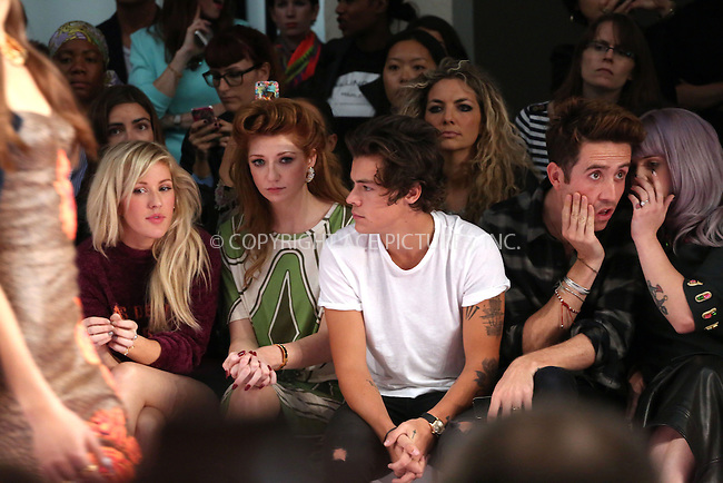 WWW.ACEPIXS.COM<br /> <br /> US Sales Only<br /> <br /> Harry Styles, Nick Grimshaw and Kelly Osbourne at the House of Holland Show during London Fashion Week SS14 on September 14 2013  in London<br /> <br /> By Line: Famous/ACE Pictures<br /> <br /> <br /> ACE Pictures, Inc.<br /> tel: 646 769 0430<br /> Email: info@acepixs.com<br /> www.acepixs.com