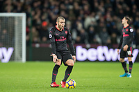 Jack Wilshere of Arsenal reaction as the referee gives a free kick during the Premier League match between West Ham United and Arsenal at the Olympic Park, London, England on 13 December 2017. Photo by Andy Rowland.