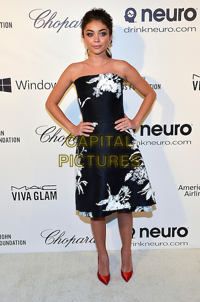02 March 2014 - West Hollywood, California - Sarah Hyland. 22nd Annual Elton John Academy Awards Viewing Party held at West Hollywood Park.  <br /> CAP/ADM/CC<br /> &copy;ChewAdMedia/Capital Pictures