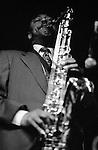 Jazz saxophonist Archie Shepp performing at Dingwalls, Camden lock, London circa 1994