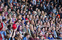 Spectators enjoy the day during The Impractical Jokers (Hit US TV Comedy) filming at Wycombe Wanderers FC at Adams Park, High Wycombe, England on 5 April 2016. Photo by Andy Rowland.