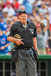 15 June 2016: MLB Umpire Bob Davidson works home plate during a game between the Chicago Cubs and the Washington Nationals at Nationals Park in Washington, DC. The Cubs fell to the Nationals 5-4 in 12 innings, giving up the rubber match of their 3-game series. Mandatory Credit: Ed Wolfstein Photo *** RAW (NEF) Image File Available ***