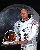 Houston, TX - File photo -- Portrait of Neil A. Armstrong, Commander of Apollo 11 Lunar Landing Mission taken on May 1, 1969.  Apollo 11 was Armstrong's second and final trip to space.  He previously commanded the Gemini 8 mission on March 16, 1966.  That mission performed the first successful docking of two vehicles in space.  Apollo 11 launched on July 16, 1969.  On July 20, 1969 Armstrong became the first human to set foot on the Moon..Credit: NASA via CNP