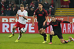 30.11.2019, RheinEnergieStadion, Koeln, GER, 1. FBL, 1.FC Koeln vs. FC Augsburg,<br />  <br /> DFL regulations prohibit any use of photographs as image sequences and/or quasi-video<br /> <br /> im Bild / picture shows: <br /> Simon Terodde (FC Koeln #9), im Zweikampf gegen  Rani Khedira (FC Augsburg #8),  <br /> <br /> Foto © nordphoto / Meuter