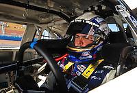 Apr 17, 2009; Avondale, AZ, USA; NASCAR Nationwide Series driver Jason Keller during qualifying prior to the Bashas Supermarkets 200 at Phoenix International Raceway. Mandatory Credit: Mark J. Rebilas-