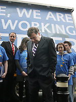 14/05/2009.An Taoiseach Brian Cowen TD at the official launch of Fianna Fail's European election campaign at the RDS, dublin..Photo: Gareth Chaney Collins