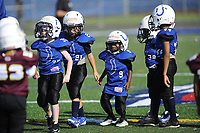 The Fauquier Youth Football 6U Colts walk to the line of scrimmage during their 6U game Saturday morning. Jacob Nolen, Griffin Barbour, Demetrius Newman, Bryon Green, and Marcellus Newman.