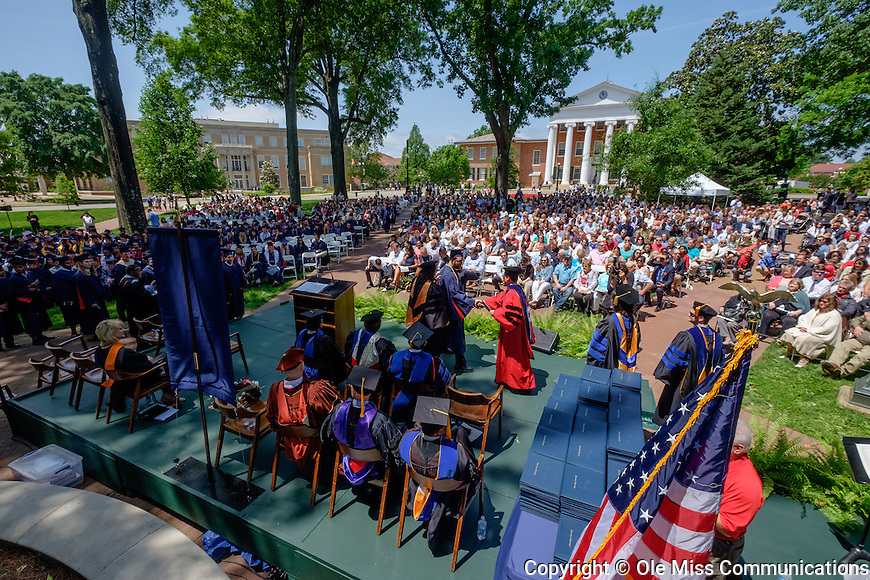 School of Engineering Commencement in the Circle at Ole Miss. Photo by Robert Jordan/Ole Miss Communications