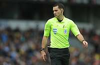 Referee Jarred Gillett<br /> <br /> Photographer Kevin Barnes/CameraSport<br /> <br /> The EFL Sky Bet Championship - Blackburn Rovers v Swansea City - Sunday 5th May 2019 - Ewood Park - Blackburn<br /> <br /> World Copyright © 2019 CameraSport. All rights reserved. 43 Linden Ave. Countesthorpe. Leicester. England. LE8 5PG - Tel: +44 (0) 116 277 4147 - admin@camerasport.com - www.camerasport.com