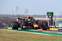 1st November 2019; Circuit of the Americas, Austin, Texas, United States of America; Formula 1 United Sates Grand Prix, practice day; Aston Martin Red Bull Racing, Alexander Albon - Editorial Use