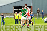 Pa Wren  Milltown Castlemaine is tackled by Padraig O Se West Kerry in Milltown on sunday