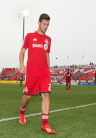 July 20, 2013: Toronto FC midfielder Alvaro Rey #23 walks off the pitch after warm-up during a game between Toronto FC and the Columbus Crew at BMO Field in Toronto, Ontario Canada.<br /> Toronto FC won 2-1.