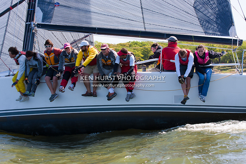 Enigma, a Farr 39ML, racing at Texoma Sailing Club Lakefest Regatta 2011, 25th annual charity regatta at Lake Texoma, Denison, Texas.
