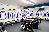 A general view in the away dressing rooms prior to the match. Gallagher Premiership match, between Worcester Warriors and Bath Rugby on January 5, 2019 at Sixways Stadium in Worcester, England. Photo by: Patrick Khachfe / Onside Images