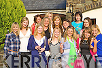 Orla Leahy Abbeyfeale celebrates her hen party with her friends in the Killarney Heights Hotel on Saturday front row l-r: Joanne O'Donoghue, Aisling O'Gorman, Denise Geaney, Orla Leahy, Joanne Sheahan, Catriona Stack. Back row: Niamh Sheahan, Sinead Nolan, Julie Sheahan, Leslie Quirke, Alison Brosnan. Back row: Nikita Lane, Katie Sheahan and Mel Ryan.