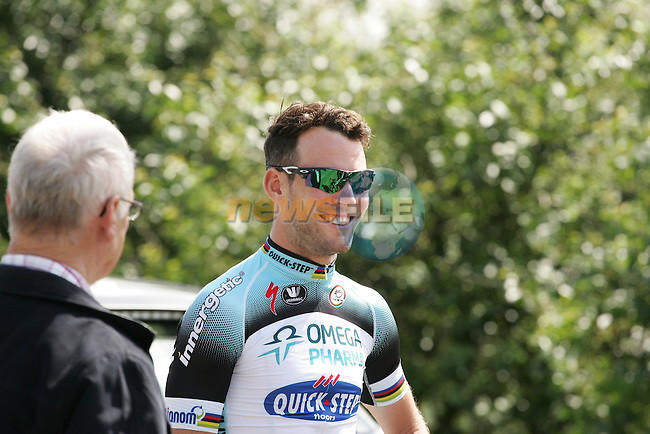 Mark Cavendish (GBR) Omega Pharma-Quick Step before the start of Ster ZLM Toer 2013 - Stage 3, Buchten, Netherlands. 14th June 2013.<br />