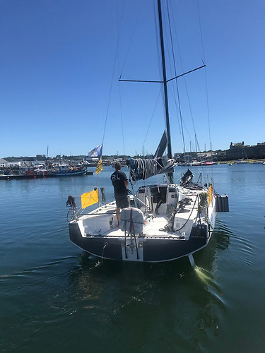 Kenny Rumball heads out for the start of the Solo Concarneau