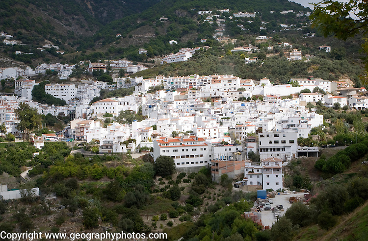 Whitewashed Andalucian mountain village of Competa, Malaga province, Spain