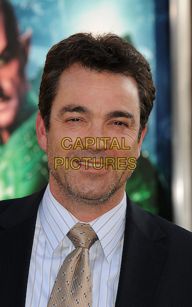 "Jon Tenney.arriving at the Los Angeles premiere of ""Green Lantern"" at Grauman's Chinese Theatre in Hollywood, California, USA 15th June 2011.  .portrait headshot beard facial hair stubble gold shirt striped .CAP/ROT/TM.© TM/Roth/Capital Pictures"