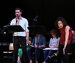 "Nicholas Belton and Mary Page Nance during the New York Musical Festival production of  ""Alive! The Zombie Musical"" at the Alice Griffin Jewel Box Theatre on July 29, 2019 in New York City."