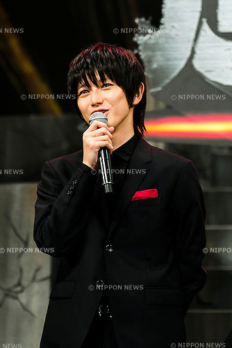 Actor Kanata Hongo speaks during the Japan premiere of the film ''Attack On Titan'' on July 21, 2015. The Japanese film is based on the manga series of the same name, written by Hajime Isayama. The film is divided into two parts; the first part will hit theaters across Japan on August 1st and the second part, entitled ''Attack on Titan: End of the World'', is scheduled for release on September 19, 2015. (Photo by Rodrigo Reyes Marin/AFLO)