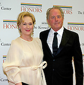 Meryl Streep and Don Gummer arrive for the formal Artist's Dinner honoring the recipients of the 2012 Kennedy Center Honors hosted by United States Secretary of State Hillary Rodham Clinton at the U.S. Department of State in Washington, D.C. on Saturday, December 1, 2012. The 2012 honorees are Buddy Guy, actor Dustin Hoffman, late-night host David Letterman, dancer Natalia Makarova, and the British rock band Led Zeppelin (Robert Plant, Jimmy Page, and John Paul Jones)..Credit: Ron Sachs / CNP