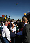 A crowd gathered in the street as Kelly Cotroneo and Jacque Friesell got married on Carson Street at the beginning of the Nevada Day parade in Carson City, Nev. on Saturday, Oct. 27, 2012. .Photo by Cathleen Allison