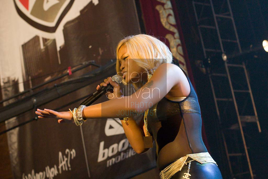 Eve performs during a Boost Mobile RockCorps concert at The Fox Theatre in Atlanta on Saturday, June 9, 2007.