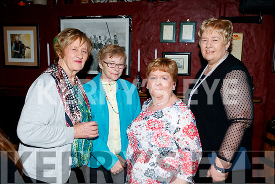 Peggy Sullivan (Ardfert), Kay Kelly (Listowel) with Ann Marie McCarthy and Mary Sullivan (Ardfert), pictured at the 80's/90's fundraiser disco at the Abbey Tavern, Ardfert on Saturday night last.