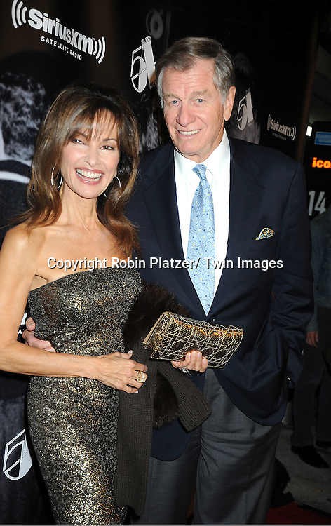 "Susan Lucci and husband Helmet Huber attend the SiriusXM Reopens Studio 54 for ""One Night Only"" party on October 18, 2011 at Studio 54 in New York City."