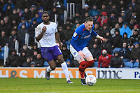 Ronan Curtis of Portsmouth nearly gets through on goal during Portsmouth vs Shrewsbury Town, Sky Bet EFL League 1 Football at Fratton Park on 15th February 2020