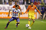 FC Barcelona's Andres Iniesta (r) and Deportivo Alaves' Oscar Rubio during Spanish King's Cup match.October 30,2012. (ALTERPHOTOS/Acero)