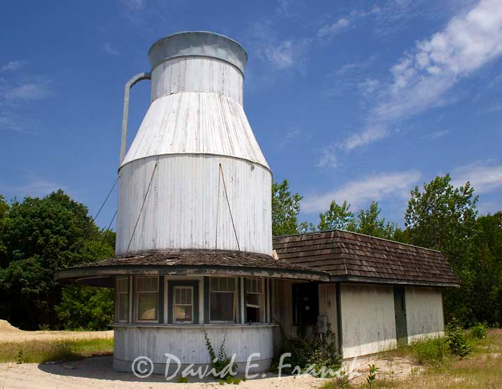 Old abandoned Milk Bottle shaped building in Woonsocket, Rhode Island