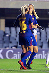 UEFA Women's Champions League 2017/2018.<br /> Round of 16.<br /> FC Barcelona vs Gintra Universitetas: 3-0.<br /> Toni Duggan &amp; Line Reddik.