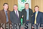 BOARD MEMBERS: Officiating at the Kerry IFA AGM in the Manor West hotel on Thursday l-r: Patrick O'Connor (County Treasurer), John Stack (outgoing County Chairman), Ken Jones (County Secretary) and John Foley (County Returning Officer)..