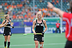 The Hague, Netherlands, June 09: Anita Punt #32 of New Zealand reacts to a call by the umpires during the field hockey group match (Women - Group A) between England and Argentina on June 9, 2014 during the World Cup 2014 at Kyocera Stadium in The Hague, Netherlands. Final score 0-0 (0-0)  (Photo by Dirk Markgraf / www.265-images.com) *** Local caption ***