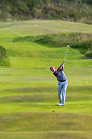 Hugh O'Hare (Fortwilliam) on the 14th fairway during Round 3 of the East of Ireland Amateur Open Championship 2018 at Co. Louth Golf Club, Baltray, Co. Louth on Monday 4th June 2018.<br /> Picture:  Thos Caffrey / Golffile<br /> <br /> All photo usage must carry mandatory copyright credit (&copy; Golffile | Thos Caffrey